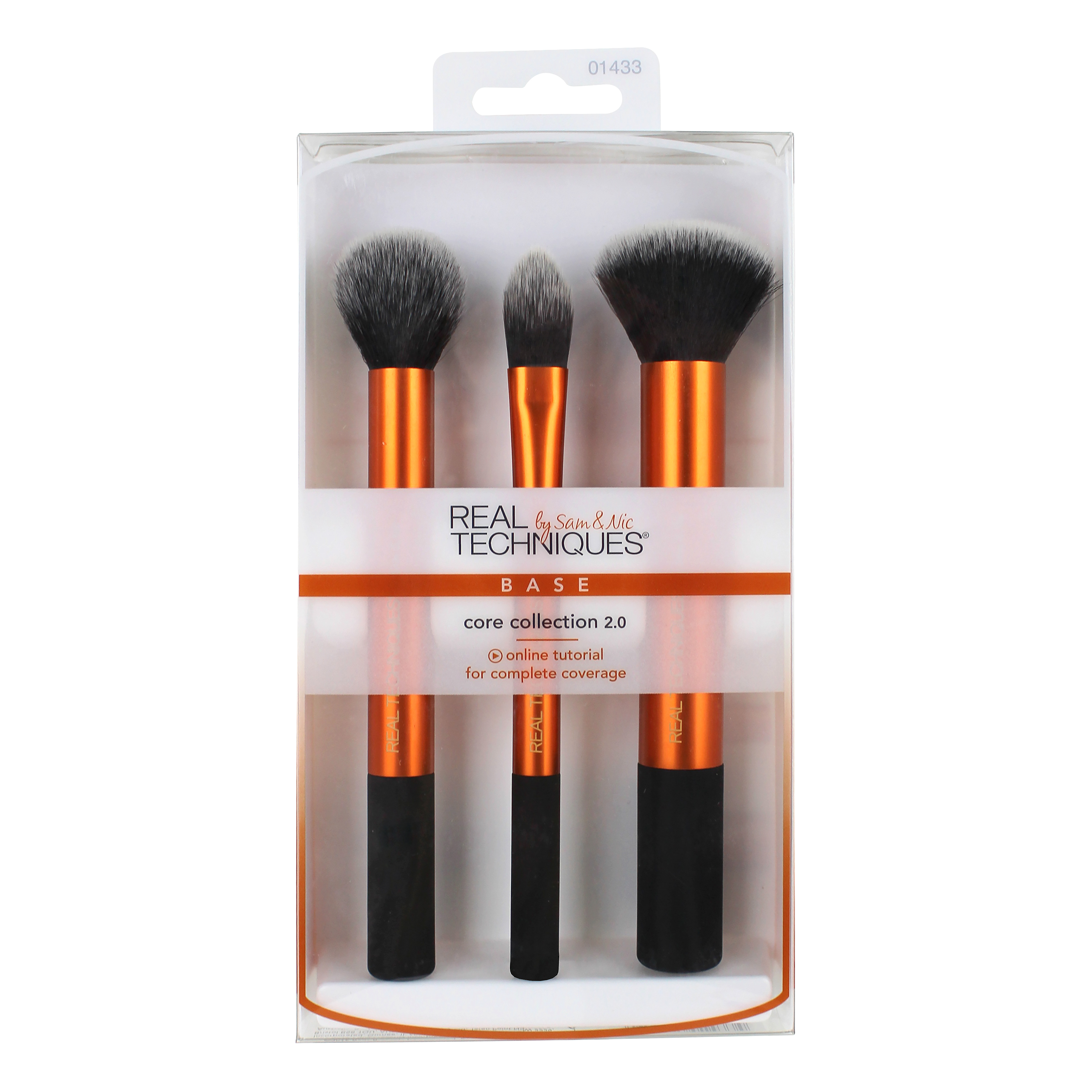 Real Techniques Core Collection Brush Set with 2-in-1 Case + Stand