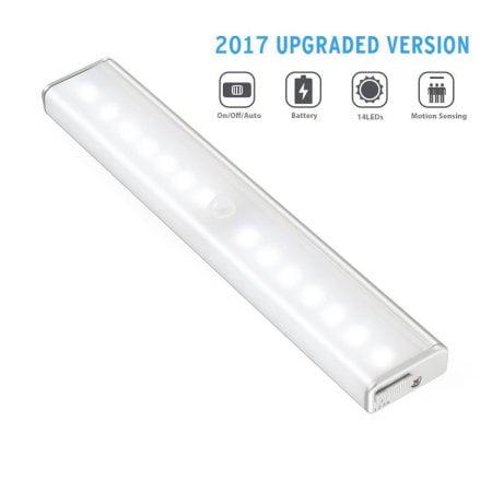 Led Rechargeable Motion Sensor Light Closet Stick On Anywhere 14 Portable