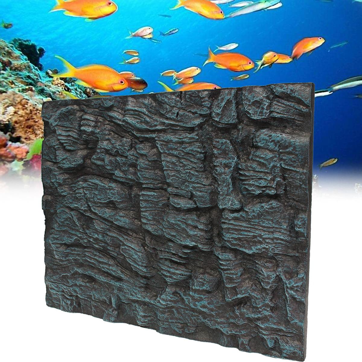 3D Foam Rock Stone Reptile Fish Tank Aquarium Background Backdrop Plate by