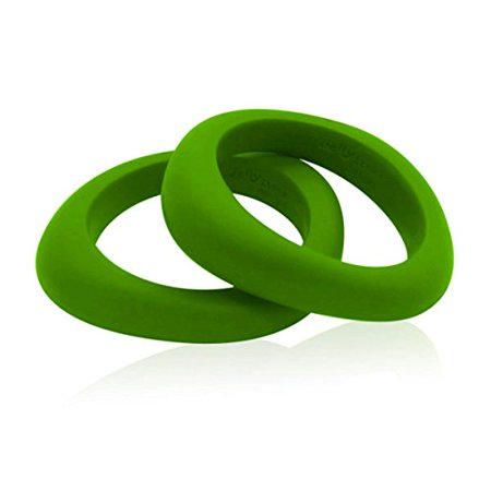 Jellystone Designs Organic Bangle - Silicone Jewelry (Teething/Nursing) (Peapod Green) - Nursing Costumes