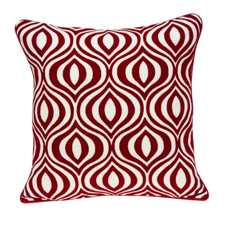 Parkland Collection PILA11016P Altia Red & White Square Transitional Pillow Cover with Poly Insert - 20 x 20 x 7 in. - image 1 of 1