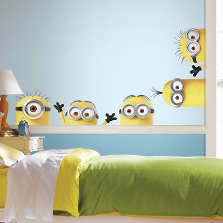 Despicable Me 3 Peeking Minions Giant Peel And Stick Wall - Giant Minion