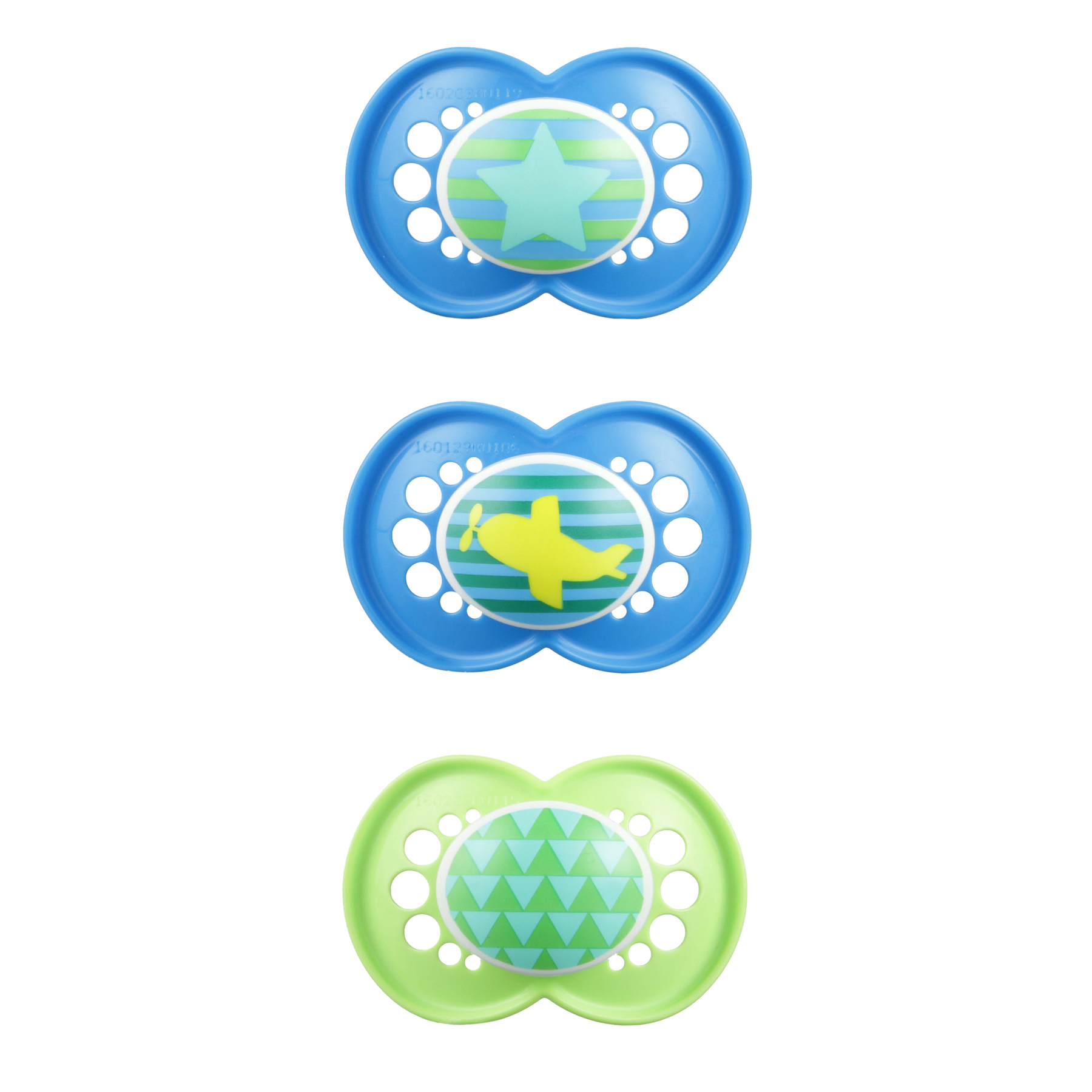 MAM Trends Orthodontic Pacifier, COLORS MAY VARY, 6+ Months, 3 Count