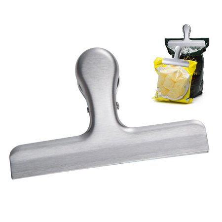 1Pc Durable Metal Stainless Steel Food Storage Chip Bag Clips Kitchen (Stainless Steel Bag Storage)