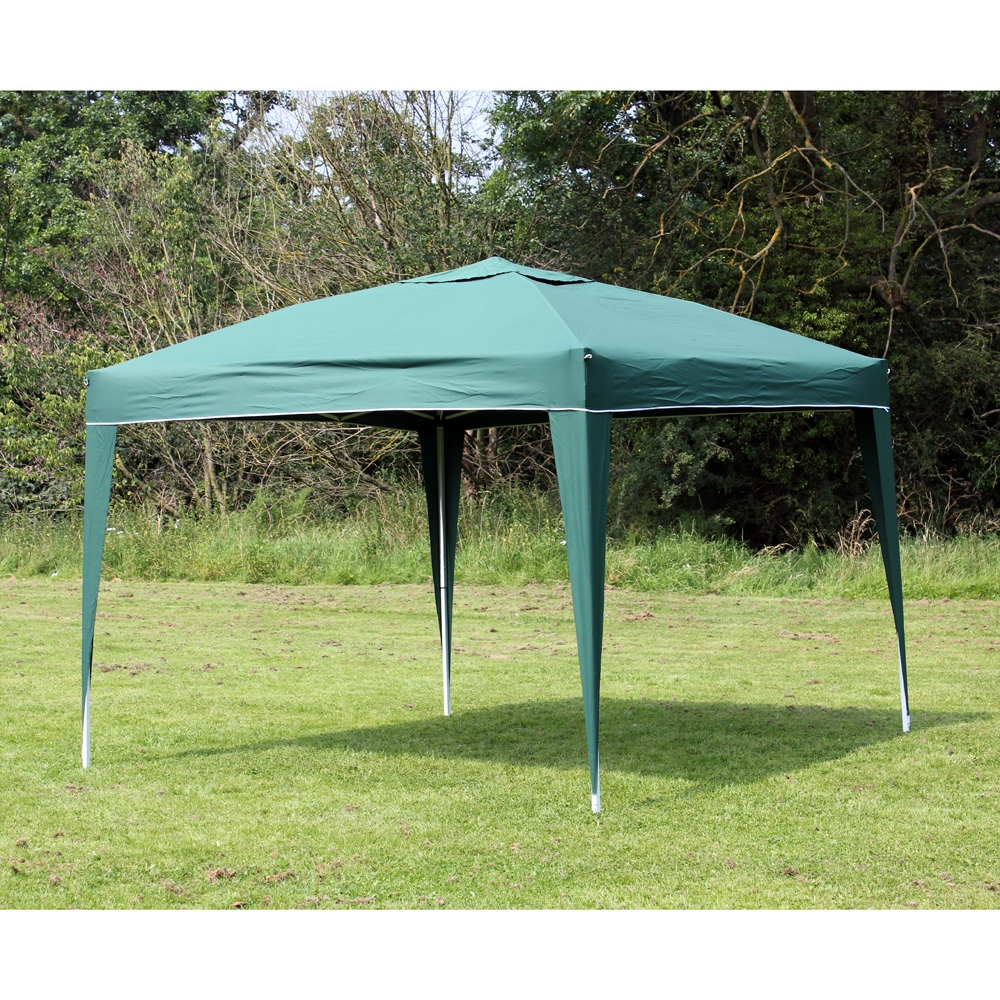 10 x 10 Palm Springs GREEN EZ Pop UP Canopy Gazebo Party Tent New