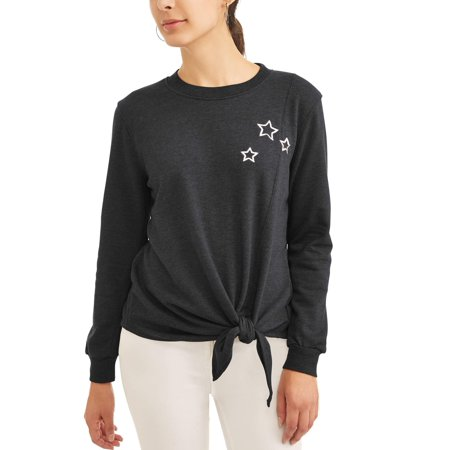 - Women's Long Sleeve Star Embroidered Sweatshirt