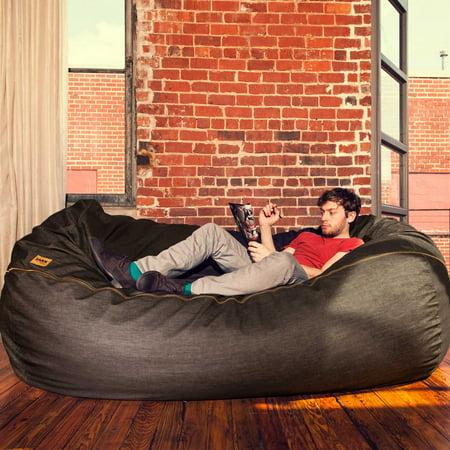 Ja 7 Ft Giant Bean Bag Sofa Dark Denim