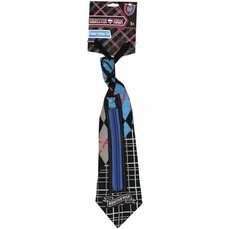Blue and Black Monster High Freaky Fashion Tie Child Halloween Costume - Diy Halloween Fashion Blog