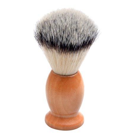 Men's Shaving Brush Barber Salon Men Facial Beard Cleaning Appliance Shave Tool Razor Brush with Wood Handle ()