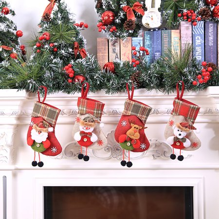 Christmas Stocking Mini Sock Santa Claus Candy Gift Bag Xmas Tree Hanging Decor - Mini Stockings Bulk