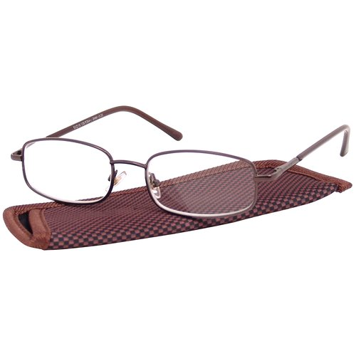 Foster Grant Men's Metal Reading Glasses, Dean Brown