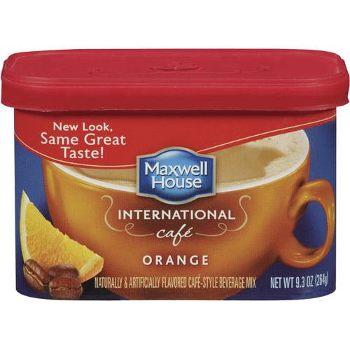 Maxwell House International Cafe Cafe-Style Orange Cafe Beverage Mix, 9.3 oz