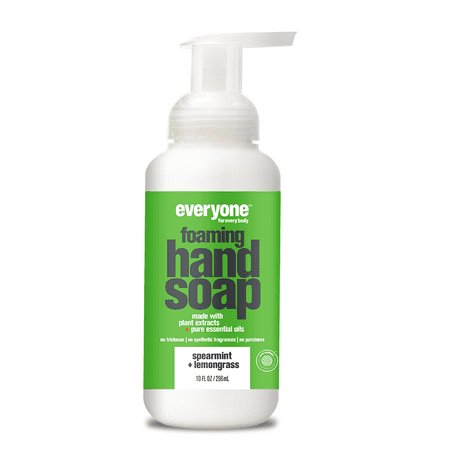 (3 pack) Everyone Foaming Hand Soap, EWG Verified, Spearmint & Lemongrass, 10 Oz Lemon Foaming Soap