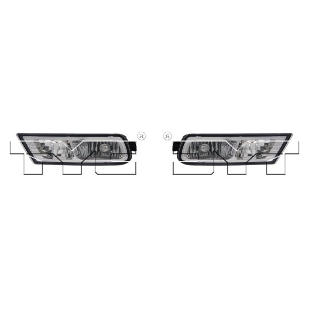 For 2010-2013 Acura MDX Pair Driver And Passenger Side Fog