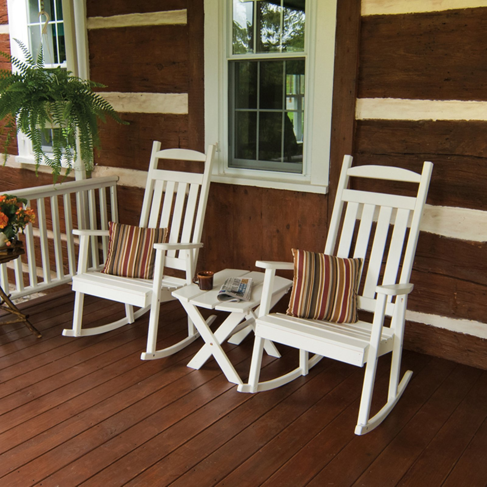 A & L Furniture Yellow Pine Classic Porch Rocker
