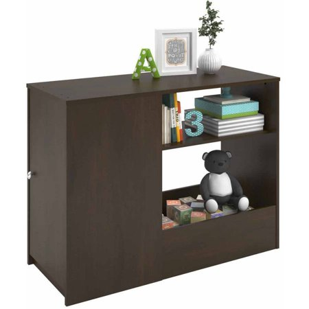 - Cosco Elements Toy Box Bookcase with Door, Resort Cherry (COMPONENT)