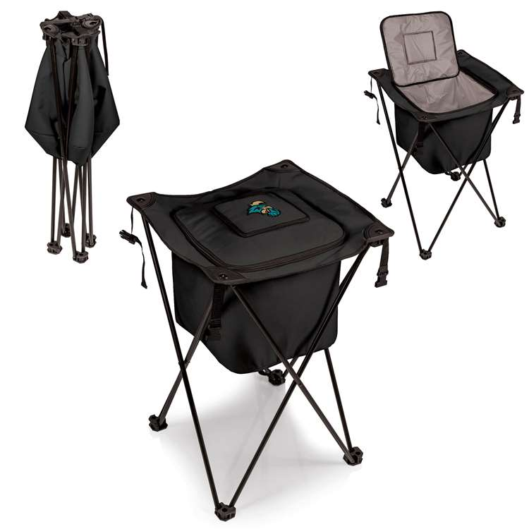 Coastal Carolina Chanticleers - Sidekick Portable Standing Cooler by Picnic Time (Black)