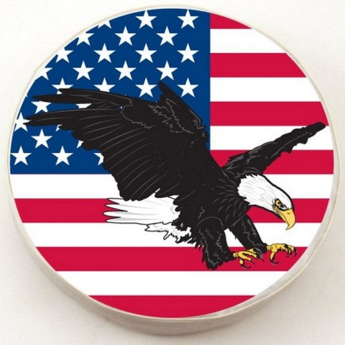 Tire Cover by Holland Bar Stool - USA Eagle, White - 25.5'' x 8''
