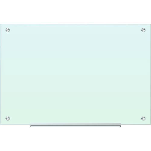 U Brands Glass Dry Erase Board, 35 X 23 Inches, White Frosted Surface, Frameless by U Brands