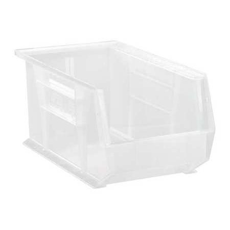 Quantum Storage Systems 60 lb Capacity, Hang and Stack Bin, Clear QUS240CL