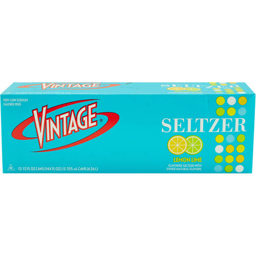 Vintage Seltzer Lemon Lime Sparkling Water, 12 Fl. Oz., 12 Count