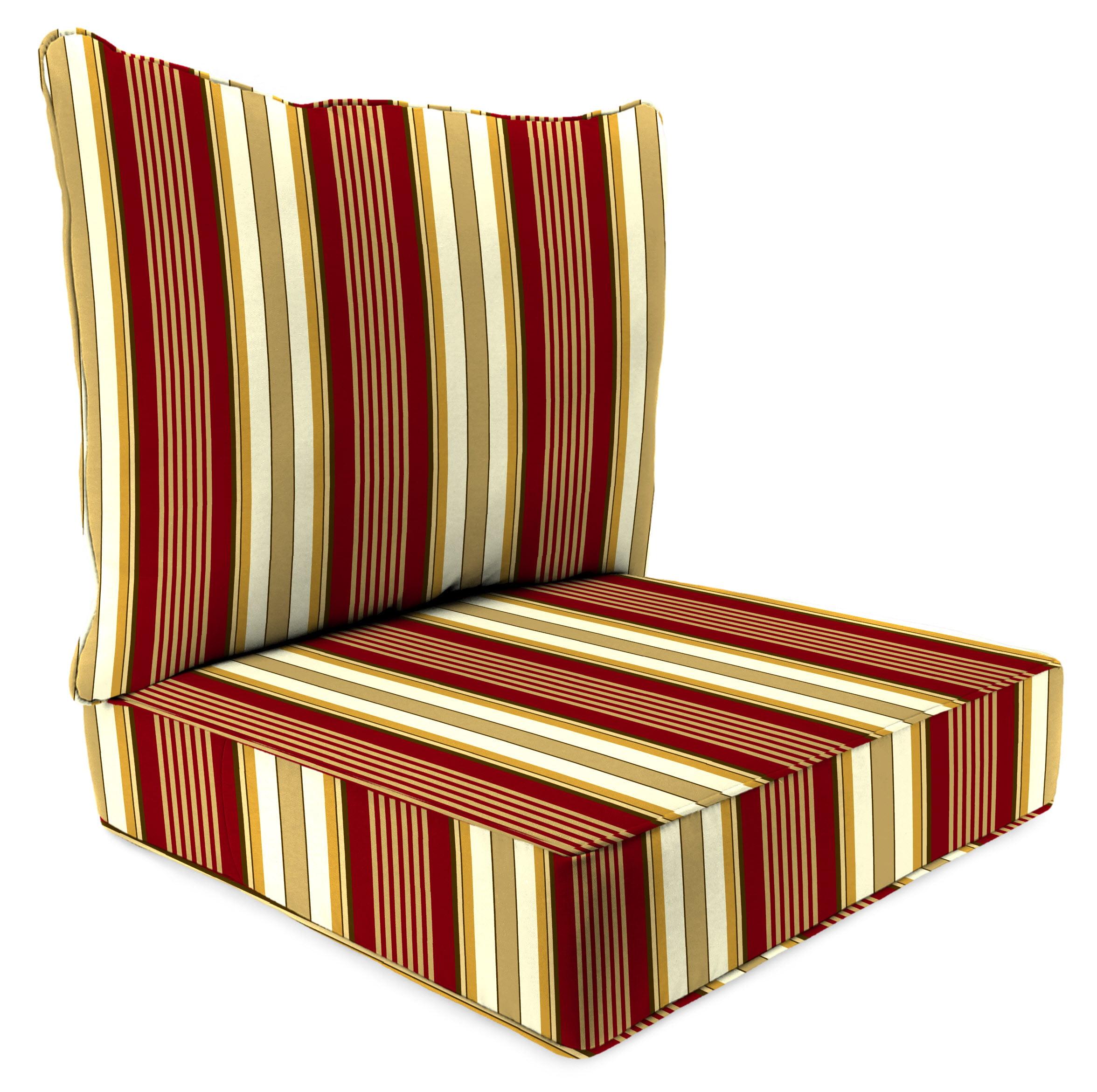 Jordan Manufacturing Mainstays Aubrey Stripe Outdoor Deep Seating Cushion Set