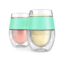 Cool Cups, Host Wine Freeze Mint Insulated Silicone Cooling Pint Glasses
