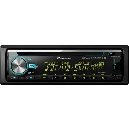Pioneer DEH-X7800BHS Single-DIN In-Dash Car Stereo CD Receiver with MIXTRAX, Bluetooth, HD Radio and SiriusXM Ready