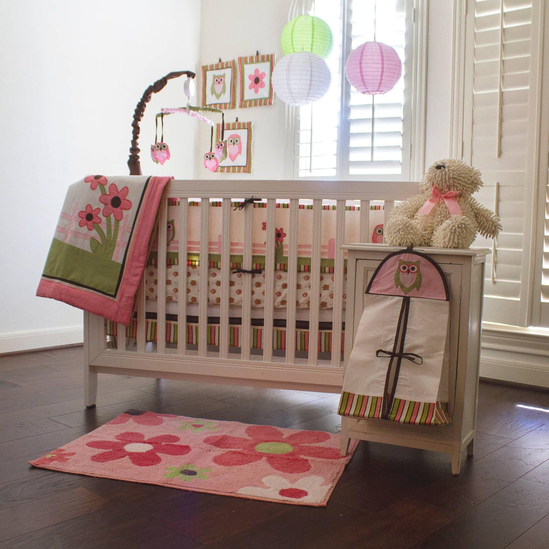 Pam Grace Creations Sweet Dream Owl 10-Piece Crib Bedding Set