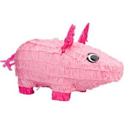 Pig Pinata, Pink, 18in x 10in