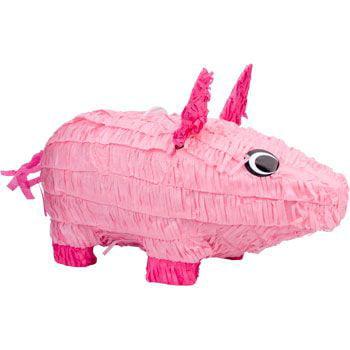 Pig Pinata, Pink, 18in x 10in (Pig Pinatas)