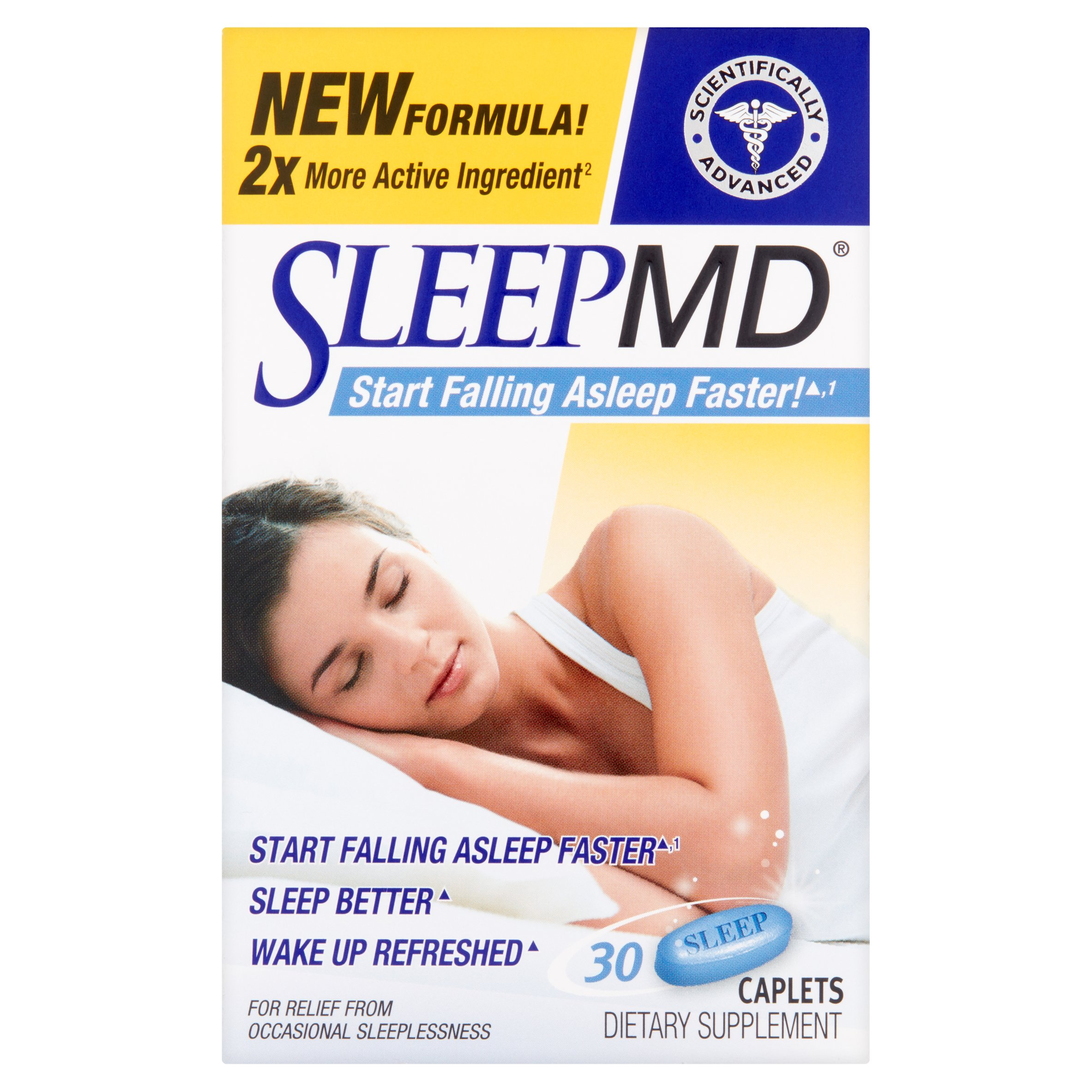Sleep MD Nighttime Sleep Aid Dietary Supplement, 30 count tablets