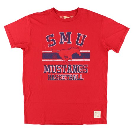 Distant Replays Mens SMU Mustangs College Vintage T Shirt - College Tee Shirts