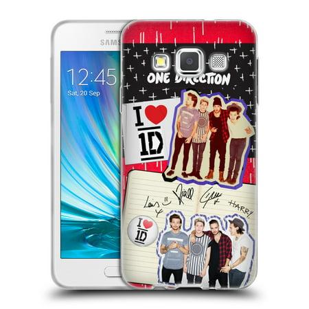 Official One Direction Locker Art Group Soft Gel Case For Samsung Phones 1