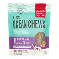 The Honest Kitchen Beams: Natural Human Grade Dehydrated Grain Free Fish Skins, Dog Chew Treats, 3.25 oz Smalls