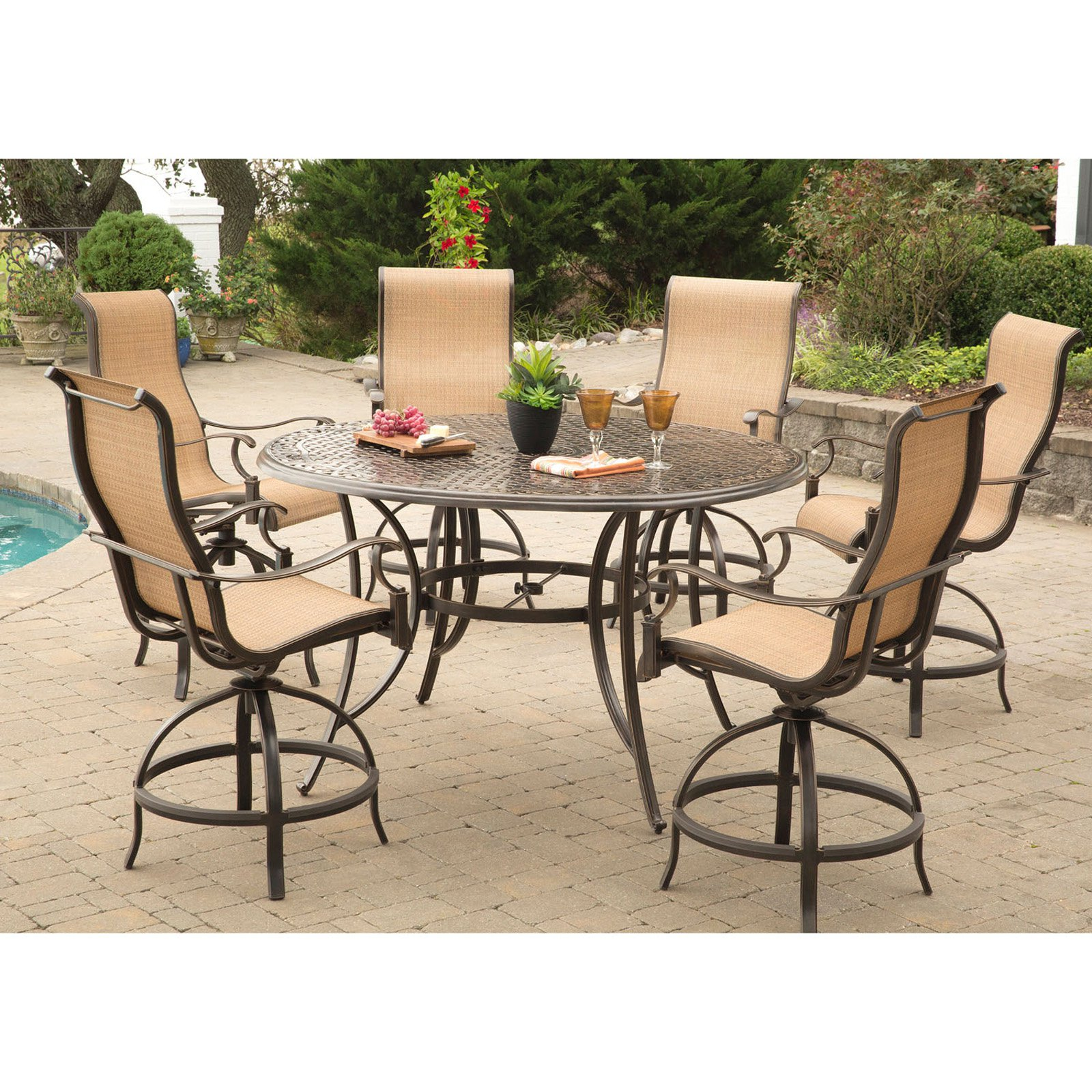 Hanover Manor 7-Piece Outdoor High-Dining Bar Set