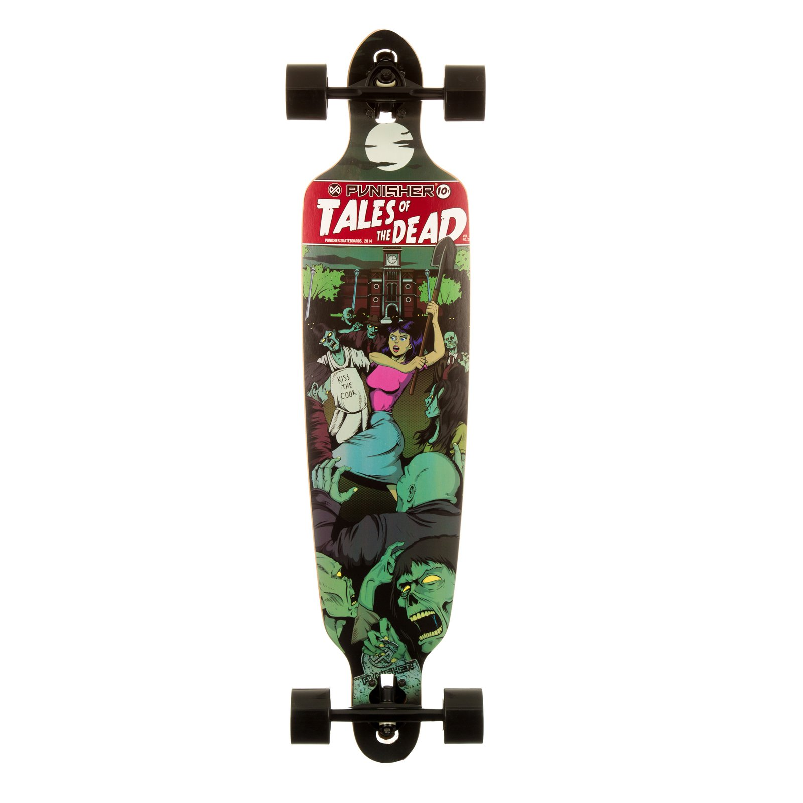 "Punisher Skateboards Tales of the Dead 40"" Longboard, Double Kick with Drop Down Deck by Generic"