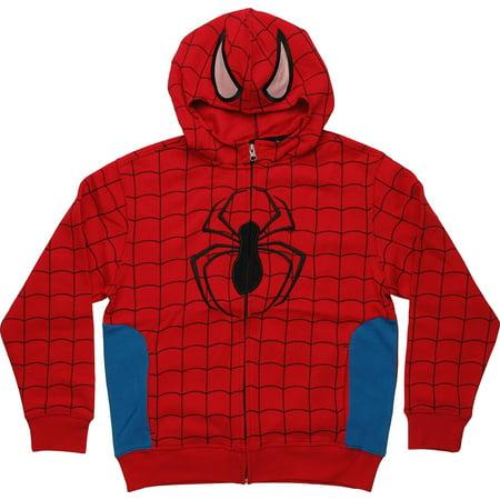 Spiderman Masked Youth Hoodie - Spider Man Hoodie