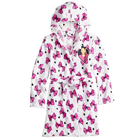 - JoJo Siwa Kids Robe for Girls Hooded Soft Plush Fleece Bath Robe