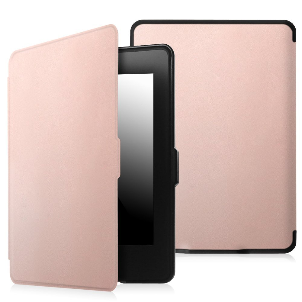 Fintie SlimShell Case for Amazon Kindle Paperwhite Gen Prior to 2018, Not Fit All-new Paperwhite 10th Gen, Rose Gold
