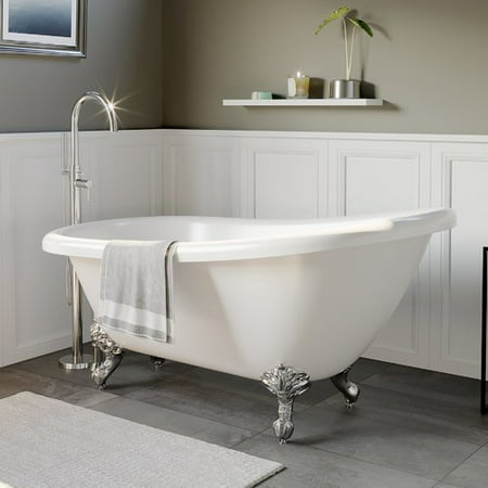 Classic Clawfoot Bathtub - Cambridge Plumbing 61'' x 28'' Clawfoot Soaking Bathtub