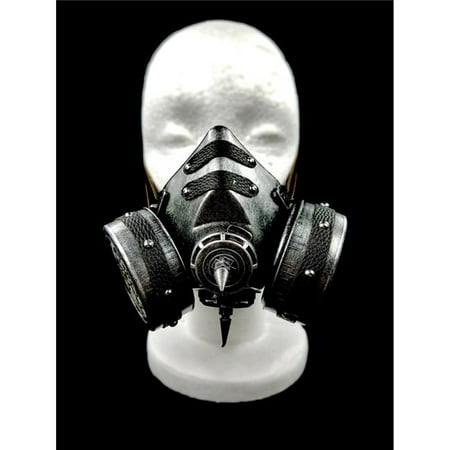 Adjustable Mask - Kayso GSM007SL Steampunk Gas Mask & Adjustable Elastic Strap, Silver