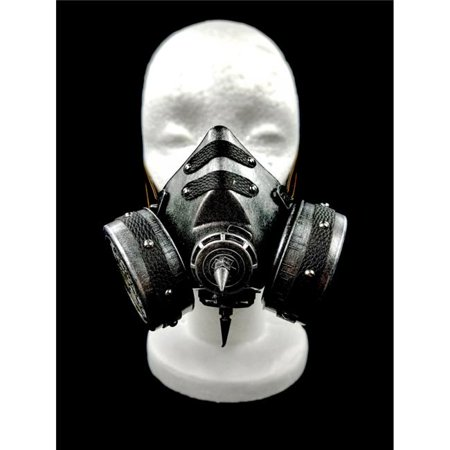 Kayso GSM007SL Steampunk Gas Mask & Adjustable Elastic Strap, Silver](Steampunk Mask)