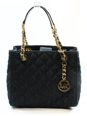 cc8fad4d53df Product Image Michael Kors NEW Blue Denim Quilted Susannah Women's Tote  Handbag Purse