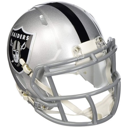 (Oakland Raiders NFL Replica Speed Mini Football Helmet, The Speed mini helmet uses the special order facemask worn by most of the star players who choose to.., By Riddell)
