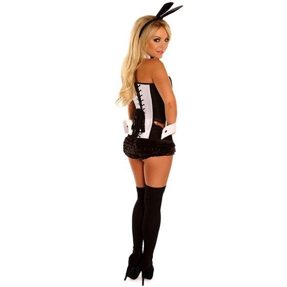 abe7276a38 Daisy Corsets Top Drawer 4 PC Tuxedo Bunny Sexy Women s Costume -  Walmart.com