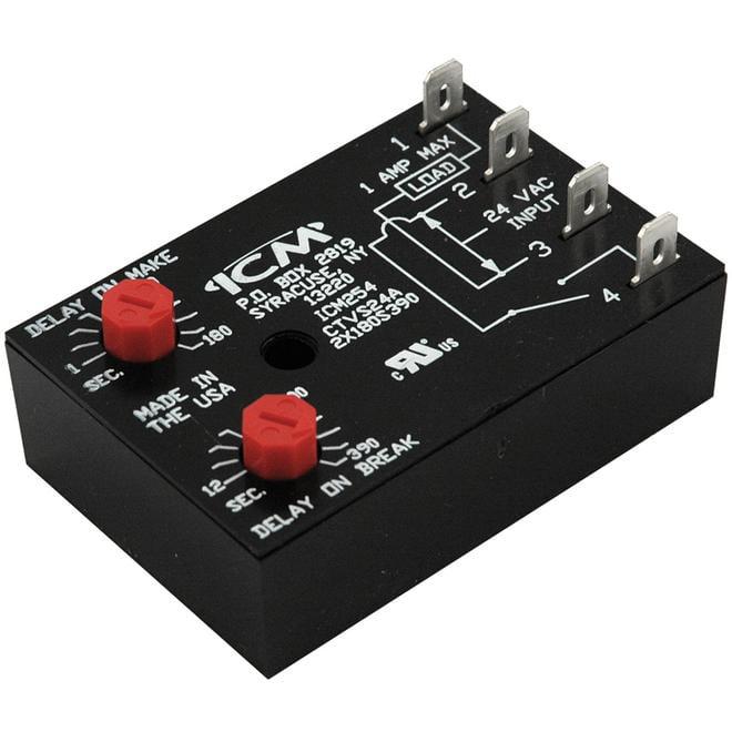 ICM Controls ICM254 Dual Function Fan Delay Timer
