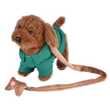 Ymiko Electronic Plush Dog Toys Musical Singing Walking Teddy Pet Doll For Kids Girls Boys Toddlers Gift Green](Walking Dead Teddy Bear Girl)