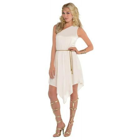Goddess Dress Adult Costume - Standard - White Greek Goddess Costume