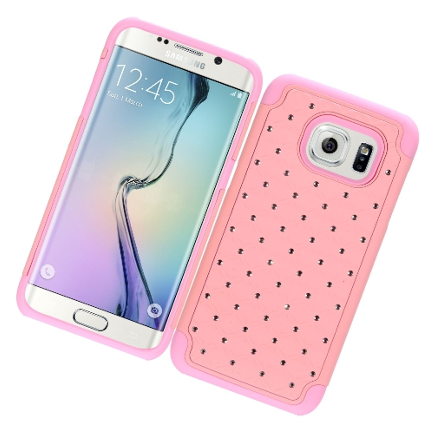 Samsung Galaxy S7 Edge Case, by Insten Rubberized Hard Snap-in Case Cover With Diamond For Samsung Galaxy S7 Edge